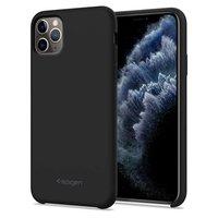 Coque iPhone 11 Pro Max Spigen Silicone Fit - Noire absorbant les chocs