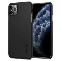 Coque iPhone 11 Pro Max Spigen Thin Fit Plastic - Noire Fine Lightweight