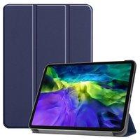Just in Case Housse en cuir à trois volets avec étui iPad Pro 11 pouces 2018 - Bleu