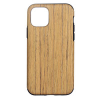 Coque en Wood Texture pour iPhone 12 et iPhone 12 Pro - marron