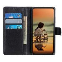 Étui portefeuille en similicuir pour iPhone 12 et iPhone 12 Pro - noir