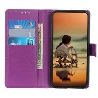 Étui portefeuille en similicuir pour iPhone 12 et iPhone 12 Pro - violet