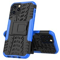Coque en TPU antichoc antichoc pour iPhone 12 et iPhone 12 Pro - Noire avec Bleu