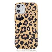 Coque TPU imprimé léopard pour iPhone 12 mini - beige