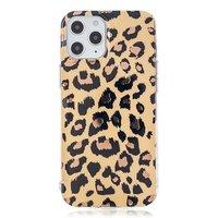 Coque TPU imprimé léopard pour iPhone 12 et iPhone 12 Pro - beige