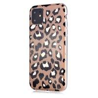 Coque en TPU imprimé léopard pour iPhone 12 et iPhone 12 Pro - beige