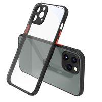 Coque en transparent pour iPhone 12 Pro Max - transparente avec noire