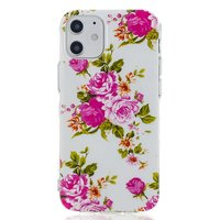 Coque en TPU Rose pour iPhone 12 mini - Blanche