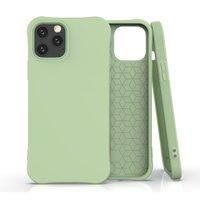 Coque souple TPU pour iPhone 12 et iPhone 12 Pro - verte