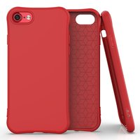 Coque souple TPU pour iPhone 7, iPhone 8 et iPhone SE 2020 - Rouge