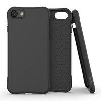 Coque souple TPU pour iPhone 7, iPhone 8 et iPhone SE 2020 - Noire