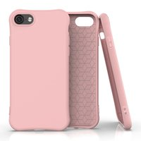 Coque souple TPU pour iPhone 7, iPhone 8 et iPhone SE 2020 - Rose