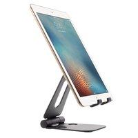 Support de téléphone de bureau universel pliable en alliage Smartphone et tablette - Noir