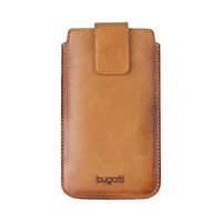 Coque Bugatti Francoforte Universal pour iPhone - Protection Cognac
