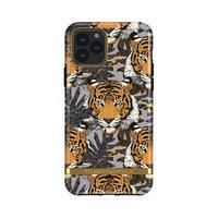 Étui en robuste Richmond & Finch Tropical Tiger pour iPhone 11 Pro - Gris avec orange