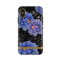 Coque Robuste Richmond & Finch Blooming Peonies pour iPhone 11 Pro - Bleu / Violet avec Noir