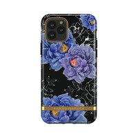 Étui en robuste Richmond & Finch Blooming Peonies pour iPhone 11 - Bleu / violet avec noir