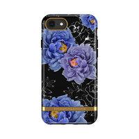 Coque Richmond & Finch Blooming Peonies pour iPhone 6, 6s, 7, 8 et SE 2020 - Bleu Violet Noir