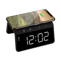 AVO + Réveil avec chargeur sans fil intégré 10W - Lumière atmosphérique noire