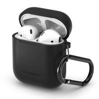 Étui en silicone Spigen AirPods - Mousqueton noir