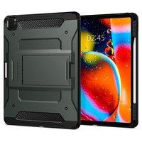 Spigen Tough Armor Carbone Avec Housse De Coussin D'air pour iPad Pro 12,9 Pouces (2020) - Vert