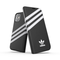 adidas Originals Étui en similicuir pour iPhone 12 mini - noir