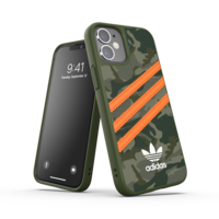 Coque en adidas Originals pour iPhone 12 mini - verte avec orange