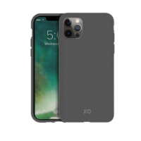 Coque Anti Bactérienne Dégradable Bio Xqisit Eco Flex pour iPhone 12 et iPhone 12 Pro - Gris