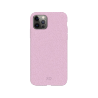 Coque Anti Bactérienne Dégradable Bio Xqisit Eco Flex pour iPhone 12 et iPhone 12 Pro - Rose