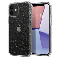 Coque Spigen Liquid Crystal Air Cushion Technology pour iPhone 12 mini - paillettes transparentes