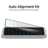 Spigen AlignMaster Glass protecteur et aide au montage iPhone 11 Pro Max et XS Max - Black Edge