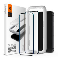 Spigen Glassprotector iPhone 12 mini 2 pcs - Black Edge Protection