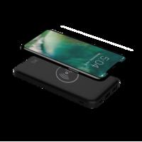 XQISIT Powerbank 10000mAh avec socle de chargement Qi - Noir