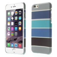 Coque Glow in the Dark pour iPhone 6 6s - Coque à rayures bleu gris
