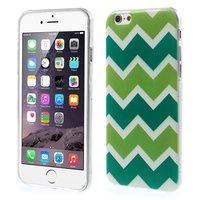 Coque TPU verte iPhone 6 6s Rayures zigzag Blanc Vert