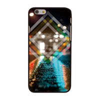 Coque rigide Triangle City night pour iPhone 6 6s City Lights, City by Night