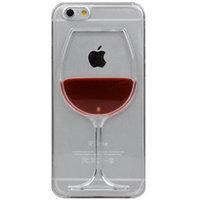 Étui à vin Étui transparent pour iPhone 6 Plus et 6s Plus Étui rigide en verre à vin