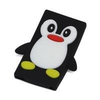 Etui Pinguin Noir iPod Nano 7 en silicone 3D