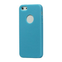 Étui à empreinte digitale robuste pour iPhone 5, 5s SE Étui en silicone bleu clair