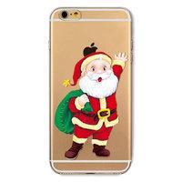 Housse de Noël iPhone 6 Plus 6s Plus Housse de Noël Housse en silicone TPU Santa