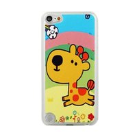 Étui girafe ludique pour iPod Touch 5 6 7 Girafe à étui gai avec arc-en-ciel
