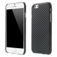 Coque en carbone très solide Coque en TPU noire pour iPhone 6 Plus 6s Plus, noire