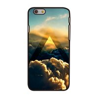 Coque Cloud iPhone 6 6s Coque rigide noire avec design Cloud Sunlight