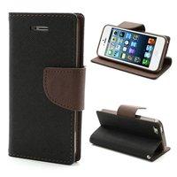 Étui portefeuille Original Mercury Goospery Bookcase case iPhone 5 5s SE 2016 Black Brown wallet