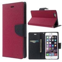 Etui portefeuille bleu Mercury Goospery Bookcase Etui portefeuille iPhone 6 Plus 6s Plus