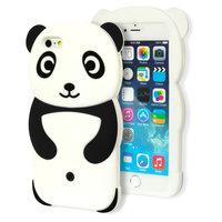 Rilakkuma Panda Etui 3D Etui en silicone pour iPhone 6 6s Noir Blanc
