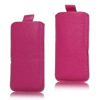 Étui en cuir rose pour iPhone et iPod Touch. Etui rose.