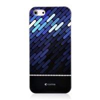 Étui rigide Comma bleu foncé pour iPhone 5 5s SE noir