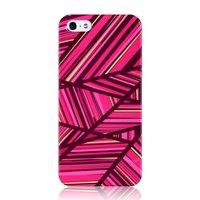 Coque iPhone 5 5s SE GGMM IML Series - Lignes étuis rigides roses