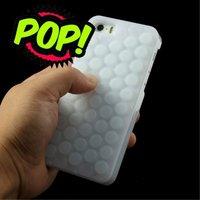 Etui en silicone bulle en plastique pour iPhone 5 5s SE